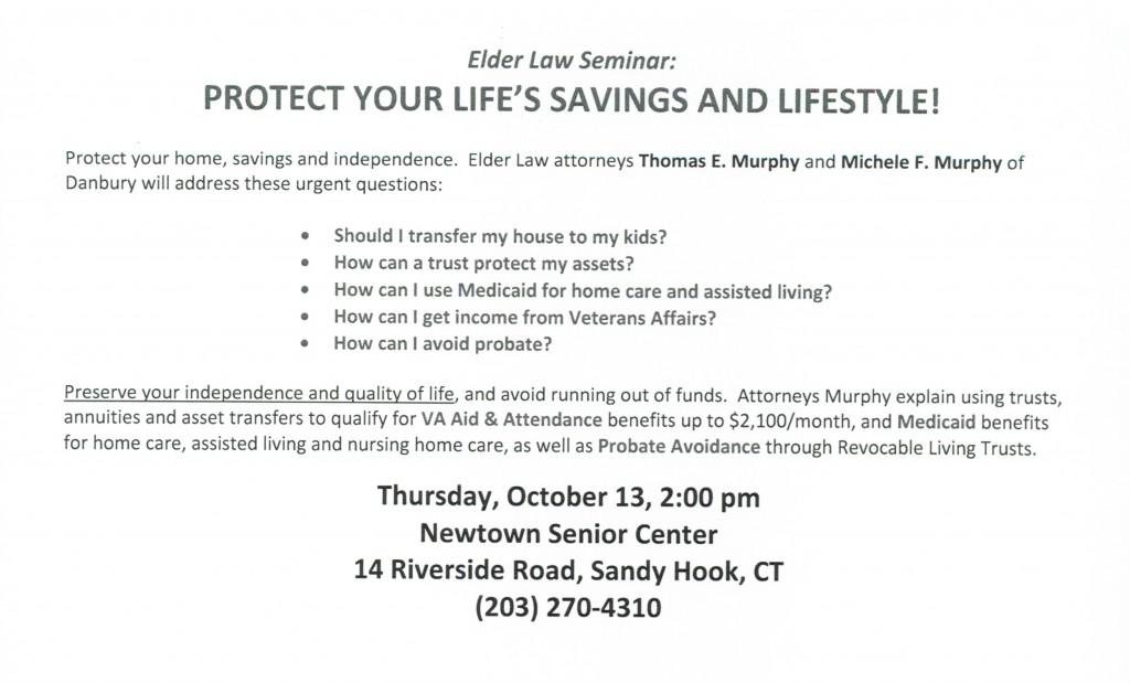 Newtown Senior Center Announcement 10132016 crop